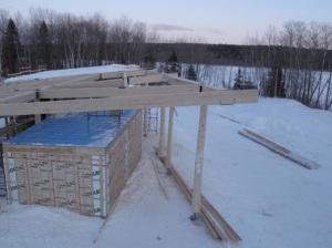 Structure d'un bâtiment d'accueil, Parc national du Lac-Témiscouata
