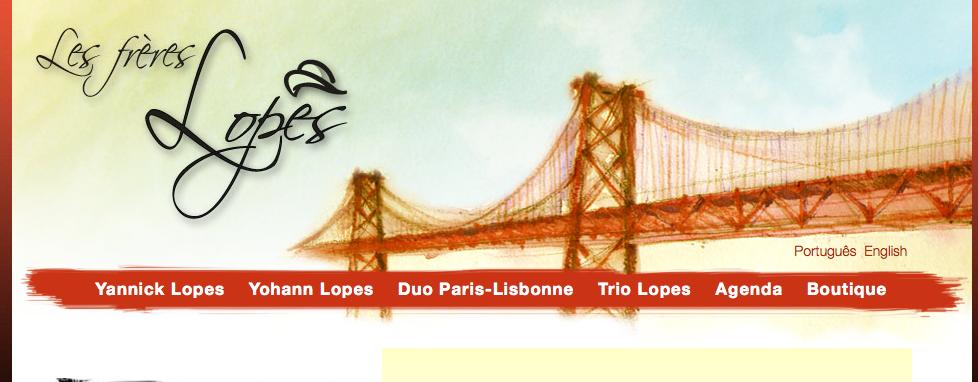 Site web des frères Lopes